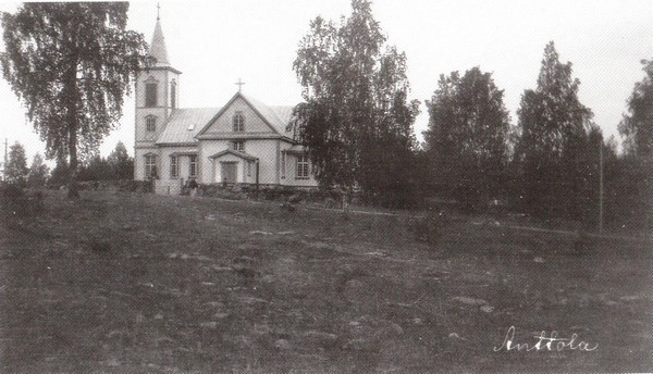 Anttolan kirkko. Kuva Historian kuva-arkisto/Museovirasto