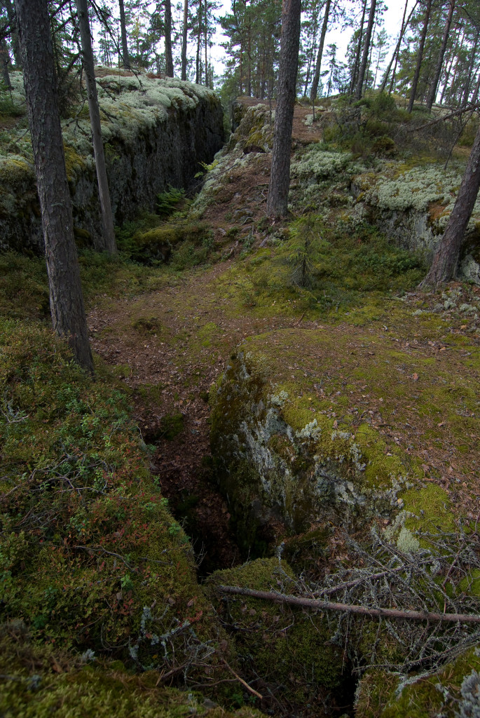 Rakokallion jylhät kalliomuodostelmat, kuva Kari Valjakka